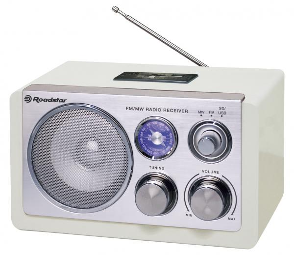 Retro rádio Roadstar HRA-1325US/WH (White)