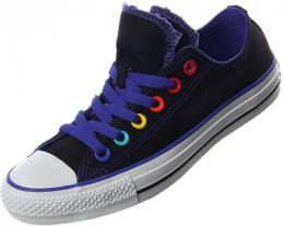 Retro boty Converse Chuck Taylor All Star Double Tongue Black/Purple 37,5